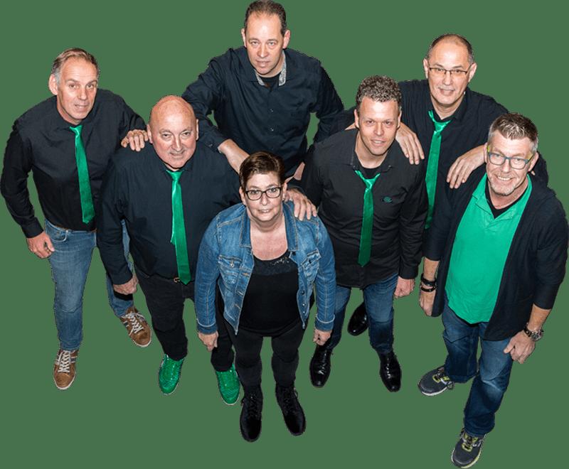 De tenoren en bassen van Popkoor Undercover: Huub, Toon, Corné, Tea, Marc, André en Peter...
